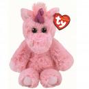 TY Plush Unicorn pink with Glitter eyes Estelle 2