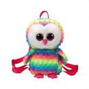 TY Plush Backpack Owl with Glitter eyes Owen
