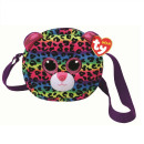 TY Plush Shoulder Bag Leopard with Glitter eyes Do