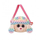 TY Plush Shoulder Bag Poodle with Glitter eyes Rai