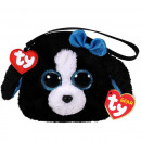 TY Plush Purse Dog with Glitter eyes Tracey