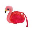 grossiste Jouets: TY Portefeuille En Peluche Flamingo Aux Yeux Paill