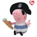 mayorista Artículos con licencia: TY Peppa Pig Peluche Pirata George 25 cm