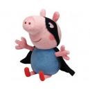 Großhandel Lizenzartikel: TY Peppa Pig Plüsch Superheld 25cm George