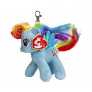 nagyker Licenc termékek: TY plüss My Little Pony Kulcstartó szivárvány nyak