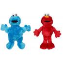 Sesamstraße Plüsch Cookie Monster + Elmo sortiert