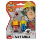 ingrosso Giocattoli: Fireman Sam Figures 2-Pack Sam + Charlie