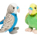 wholesale Figures & Sculptures: Plush Parakeet assorted 14cm (without sound)