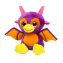 Plush Dino with glitter eyes Lilac / Orange 20cm (