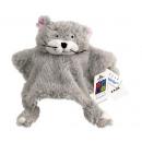 Großhandel Babyspielzeug: Kuscheltuch Katze mit Rassel (Pre-Preis Eur.