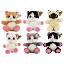 Plush Cat Glitter Eyes 18cm