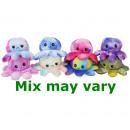 wholesale Dolls &Plush: Reversible Octopus 8 assorted 30cm Multi colour