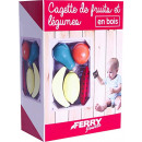 Wooden box with vegetables and fruit 6 parts 11.5x