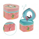 LLAMAZING Jewelry music box with llama - heart sha