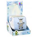 Großhandel Sonstige: Babywürfel mit Rassel, blau / weiß / grau, Esel, 1
