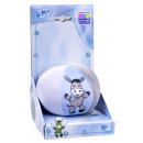 Großhandel Sonstige: Babyball mit Rassel, blau / weiß / grau, Esel, ...