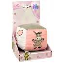 Großhandel Sonstige: Babywürfel mit Rassel, rosa / weiß / grau, Esel, 1