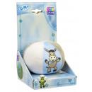 Piłka dla niemowląt z grzechotką, niebiesko-biało-