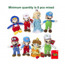 Mario Bross Plush Characters 8 assorted S3 36cm
