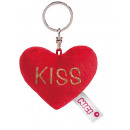 wholesale Keychains: Nici Plush Heart keyring Kiss