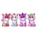 Plush Unicorn with Glitter eyes 4 assorted 23cm