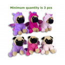 Plush Dog 20cm in unicorn costume 3 assorted