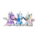 Plush Unicorn 3 assorted 23cm