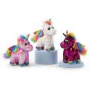 Plush Unicorn 3 assorted 25cm