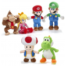 wholesale Licensed Products: Mario Bross Plush 6 assorted 25cm