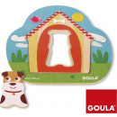 Wooden Inlay Puzzle Doghouse 17x18cm