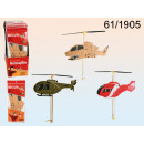 wholesale Cups & Mugs: Rubber Band Foam Helicopter 3 assorted 13x30cm