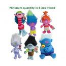 groothandel Speelgoed: Trolls Pluche Trolls 6 assorti Gift S3 30cm