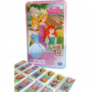 DisneyPrincess Domino Game in metal tin 12x19c