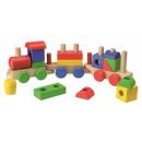 Großhandel Holzspielzeug: Holzspielset Zug 18 Teile
