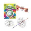 groothandel Sieraden & horloges: Swirly Loop Magische Ring RVS op blister