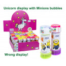 Minions Bubbles 60ml in Unicorn Display (36)