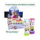 Minions Bubble Blower 60ml in frozenEspositore (36