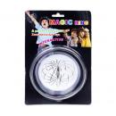 groothandel Sieraden & horloges: Magische Ring RVS op blister 16x24cm