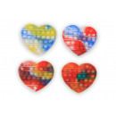 wholesale Toys: Magic Pop Game Tie Dye Heart 4 assorted 11x14x1.5c