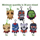 Guardians of the Galaxy plush Bagclip 7 assorted 1