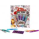 mayorista Regalos y papeleria: Tattoo bolígrafos de gel 5pcs. en la tarjeta