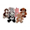 Plush animals 6 assorted 70cm