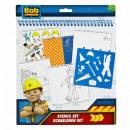 Bob the Builder Schablonenset 32 Teile 25x29cm
