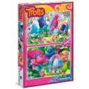 Großhandel Spielwaren: Clementoni Trolls Puzzle 2x60 Stk. (Pre-Price Eu