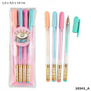 wholesale Gifts & Stationery: Depesche Lisa and Lena gel pens 4-pack in the disp