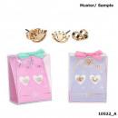 wholesale Earrings: Depesche Lisa and Lena 2 earrings assorted in disp