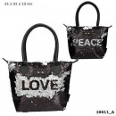 wholesale Handbags: Depesche Trend LOVE handbag caress sequins black