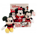 Disney Plush Mickey & Minnie Mouse Hearts 2 as