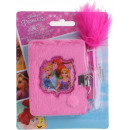 wholesale Licensed Products: DisneyPrincess Diary plush with lock + pen 8x11