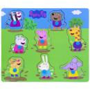 Großhandel Spielwaren: Peppa Pig Holzknopfpuzzle 22x26cm